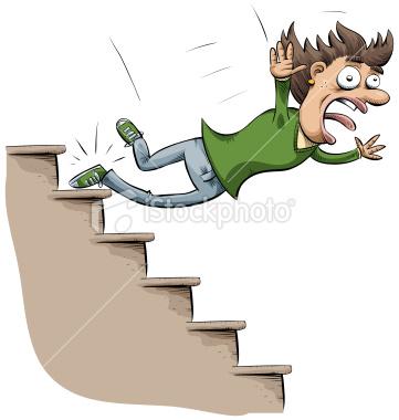 Pin Cartoon People Falling Down On Pinterest