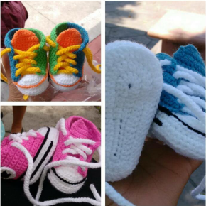 Crochet Converse Baby Running Shoes