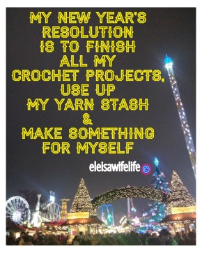 Crocheters New Years Resolution