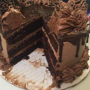 Chocolate Hazelnut Cake with Dark Chocolate Ganache
