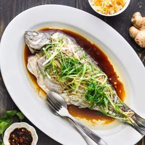 Cantonese Steamed Fish with Ginger andShallots